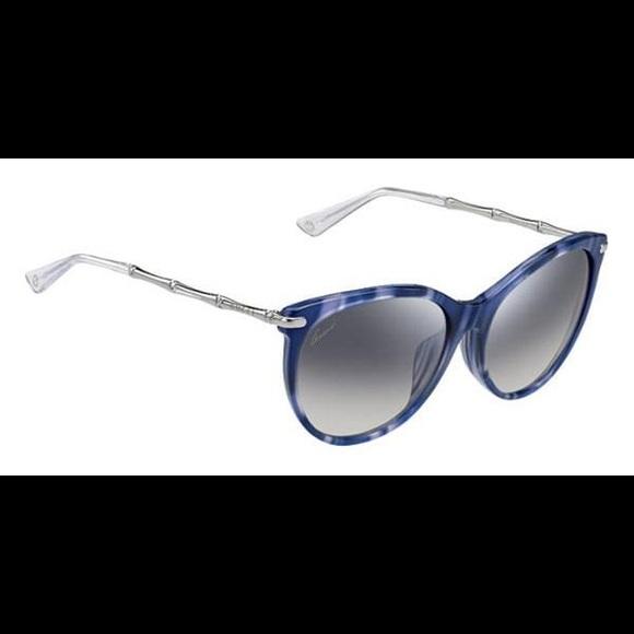 269cb4475 Gucci Accessories | Blue Bamboo Sunglasses With Case | Poshmark